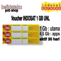 Voucher Paket Data INDOSAT 1 GB