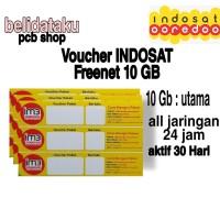 Voucher Paket Data INDOSAT FREEDOM INTERNET 10 GB