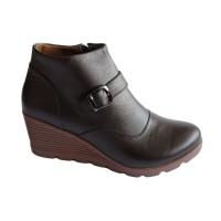 Sepatu boots wanita sepatu boots kulit sepatu wedges