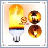 Lampu Led Api / Bohlam Lampu Led E27 Flame Lampu Obor Taman 3 in 1