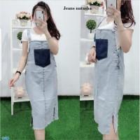 Dress Jeans Overall Terlaris / Rok Overall Jeans Denim -jeans natasha
