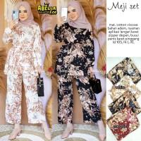 baju meji setelan celana muslim wanita fashion terbaru kekinian cantik