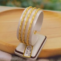 gelang keroncong emas asli model lilit
