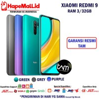 XIAOMI REDMI 9 RAM 3/32GB GARANSI RESMI TAM TERMURAH