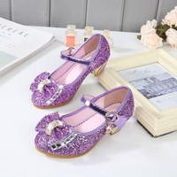 [31-37] Sepatu Heels Glitter Anak / Sepatu Heels Anak - Ungu, 32