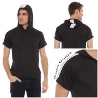 HOODIE STRIPE - Kaos Hoodie fashion Pria Baju Distro sweater kupluk