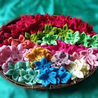 Aplikasi Bunga Bintang Bahan Siffon