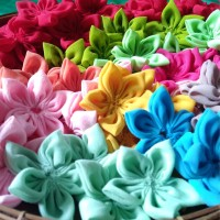 Aplikasi Bunga Bintang Bahan Siffon Per Gross