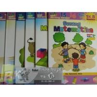 Paket 6pcs Buku Senang Belajar TK B PAUD bonus ular tangga