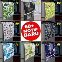 Cover Kulkas / Sarung Penutup Kulkas / Taplak Kulkas - Motif Minimalis