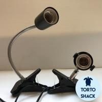 Nomoy Fitting Lampu Jepit Fleksibel Adjustable Reptil|Pet Lamp Cover