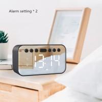 Speaker Bluetooth Jam Alarm Clock Mirror A5