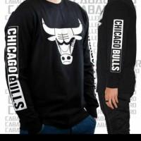 tshirt kaos lengan panjang Chicago Bulls BIG SIZE 3XL & 4XL