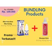 Product Bundling Obat cacing kucing anjing kelinci & Shampoo anti kutu