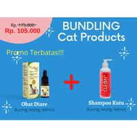 Product Bundling Shampoo Anti kutu -Obat Diare Kucing, Anjing, kelinci