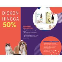 Suplemen Herbafit Kucing anjing kelinci & Obat diare/mencret probiovar