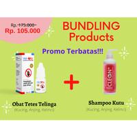 Bundling Product, Obat tetes kutu kucing anjing kelinci & Shampoo kutu
