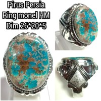 cincin batu akik permata pirus Persia 010