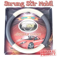 Mbtech Sarung Setir Mocca Kulit Mobil PU Leather Steering Cover