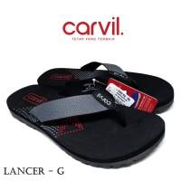 Sandal Pria Carvil Original Anti Air - Sendal Carvil Lancer - Grey