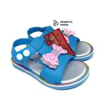 Sepatu Sandal Anak Perempuan NE Tahan Air - Biru