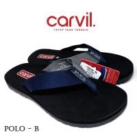 Sandal Pria Carvil Original Anti Air - Sendal Carvil Polo - Blue