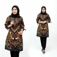 Baju Atasan Wanita Tunik Parang / Blus Batik Kantor