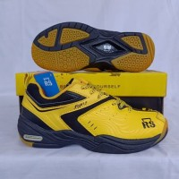 RS Sepatu Badminton Anak RS JF 887 Jeffer 887 Junior Yellow Black ORI