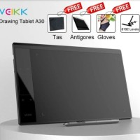 VEIKK A30 Pen Tablet Drawing 10x6 Inch Press Level 8192 Bonus Softca