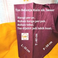 Tas Kantong Kain Belanja Tebal Besar Souvenir Shopping Bag Merah Marun