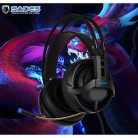 Headset Gaming Sades SA-935 3.5mm Audio Single Jack with Converter