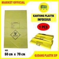 Kantong Plastik Sampah Medis INFEKSIUS 50 X 70
