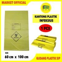 Kantong Plastik Sampah Medis INFEKSIUS 60 X 100