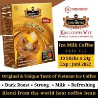 Kopi Vietnam King Coffee Cafe Sua Kopi Susu isi 10 Sachet Trung Nguyen