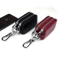 Dompet STNK kulit asli mobil motor Double Zipper STNK