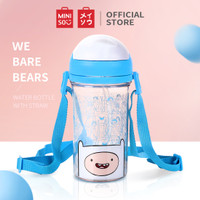 MINISO Botol Minum Plastik Tempat Air Water Sedotan Adventure Time