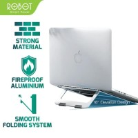 Lightweight Foldable Laptop Notebook Cooling Stand Silver Robot RTLS01