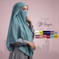 Jilbab Hijab Bergo Khimar Cadar Niqab Siti Aisyah Non Pet Instan Murah