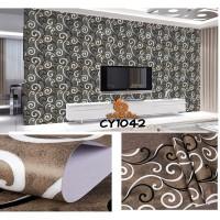 Home Wallpaper Sticker Dinding Classic Line - 45cm x 10 m