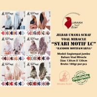 kerudung VOAL MIRACLE SYARI MOTIF by Umama Scarf 21.000 RANDOM WARNA