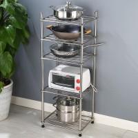 ES Rak Peralatan Dapur Rak Bertingkat Rak Penyimpanan Panci serbaguna - 5 tingkat