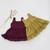 Dress anak perempuan linen ruffle