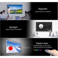 H100 Laser Wireless Presenter pointer Spotlight with Air Mouse