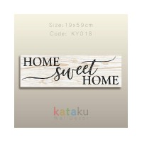 Hiasan Dinding PictBox Home Sweet Home Sign Dekorasi Pajangan Dinding