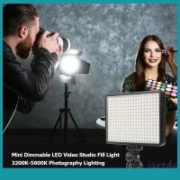 Sos Lampu LED Mini Dimmable 3200K5600K Untuk Studio