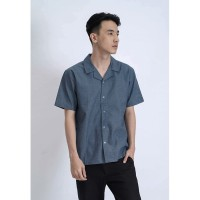 SPARSE EVERYDAY SHIRT In Chambray -Kemeja polos Chambray/Denim Premium - M