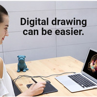 Huion HST640 HS64 Pen Tablet Graphic Drawing Android PC alt H430P
