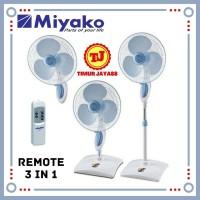 Kipas Angin Berdiri / Meja / Dinding 3in1 Kipas Remot / Remote Miyako