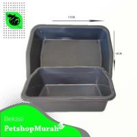 Cat Litter Box Kotak Bak Pasir Kucing Tempat Pup Kucing Besar Hewan