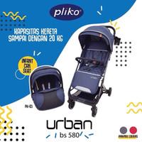 Stroller Pliko B/S 580 + PK 03 B Urban Travel System - Biru